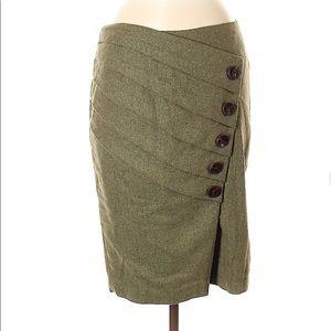 Anthropologie Eva Franco Tweed Wool Pencil Skirt